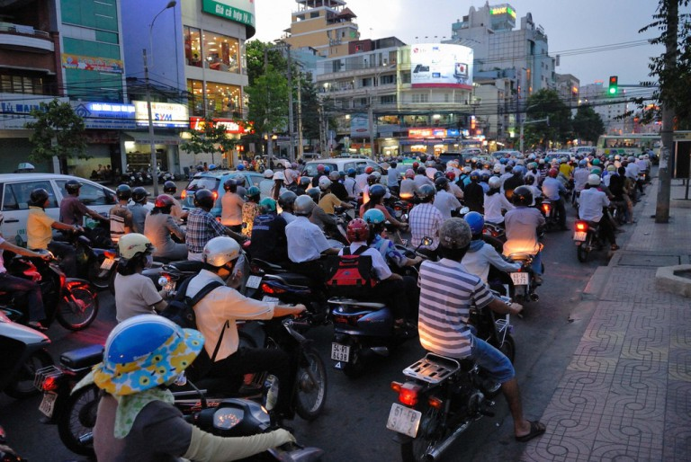 Going with the flow is a must-remember tip when motorbiking in Vietnam