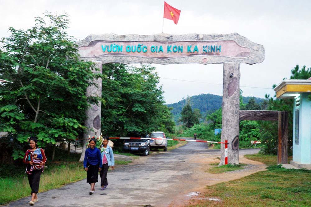 Kon Ka Kinh National Park welcome gate