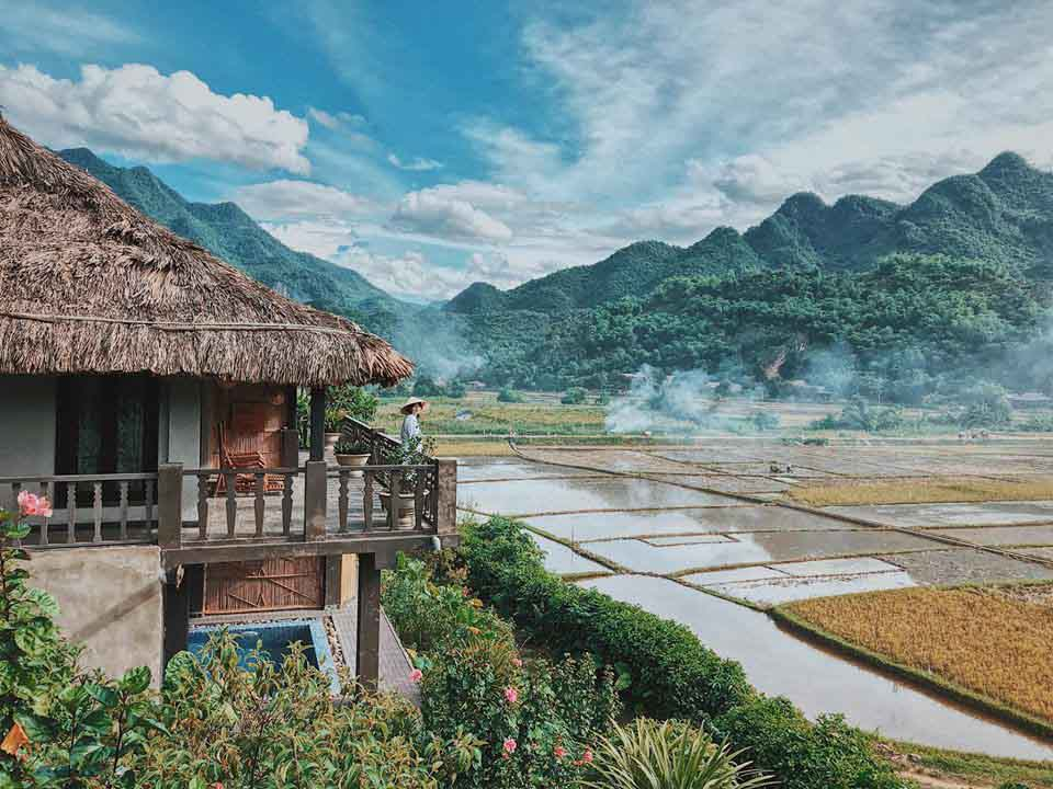 Stunning view of Ban Lac - Mai Chau from a hotel