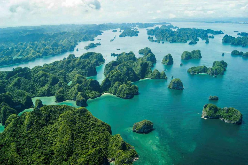 The above view of Ha Long Bay - the most famous bay in Vietnam