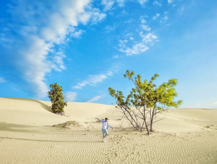 The stunning view of Nam Cuong Sand Dunes in Ninh Thuan - Little deserts in Vietnam