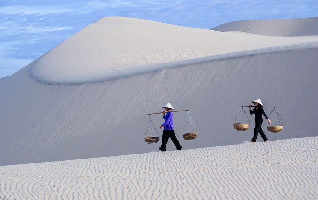 The white sand dunes in Mui Ne